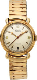 Timepieces:Wristwatch, Gruen, Autowind, New-Old-Stock, 10K Yellow Gold Filled and...