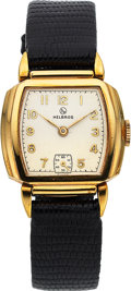 Timepieces:Wristwatch, Helbros, New-Old-Stock, 10K Yellow Rolled Gold Plate and S...