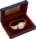 Timepieces:Wristwatch, Gruen, Autowind, New-Old-Stock, 10K Yellow Gold Filled andStainless Steel, Automatic, Circa 1950s. ...