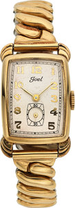 Timepieces:Wristwatch, Avia/Greygor Watch Company, 10K Yellow Rolled Gold Plate a...