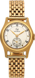Timepieces:Wristwatch, Helbros, New-Old-Stock, Yellow Gold Filled and Stainless S...