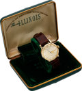 Timepieces:Wristwatch, Illinois, New-Old-Stock, 10K Yellow Gold Filled, Automatic, Ref.9517, Circa 1953. ...