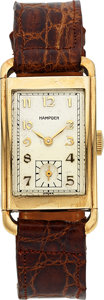 Timepieces:Wristwatch, Hampden, New-Old-Stock, 10K Yellow Gold Filled, Manual Win...