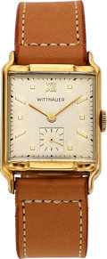 Timepieces:Wristwatch, Wittnauer, Lehigh, New-Old-Stock, 10K Yellow Gold Filled, ...