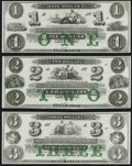 Obsoletes By State:Rhode Island, Newport, RI- New England Commercial Bank $1; $2; $3 18__ Remainders Choice Crisp Uncirculated.. ... (Total: 3 notes)