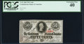 Confederate Notes:1863 Issues, T63 50 Cents 1863 PF-6 Cr. 488 PCGS Extremely Fine 40.. ...