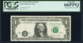 Error Notes:Shifted Third Printing, Misaligned Black Overprint Fr. 1912-B $1 1981A Federal Reserve Note. PCGS Gem New 66PPQ.. ...