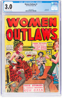 Women Outlaws #1 (Fox Features Syndicate, 1948) CGC GD/VG 3.0 Off-white to white pages