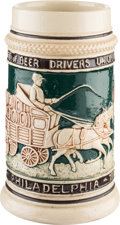 "Antiques:Decorative Americana, Beer Drivers Union Stoneware Stein: Look For ""The Union Label""...."