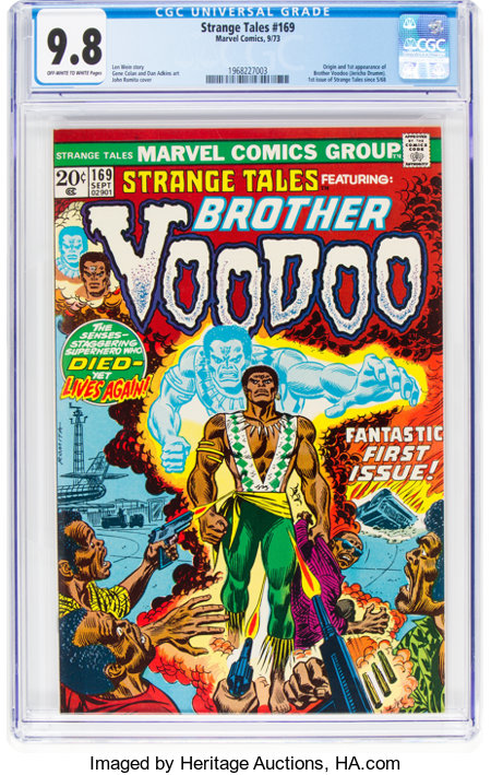 Strange Tales #169 (Marvel, 1973) CGC NM/MT 9.8 Off-white to white pages....