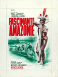 Movie Posters:Documentary, Fratenelle Amazonie by Jean Mascii (CEPC, 1965). Fine/Very Fine. Signed Original Gouache Artwork on Illustration Board (19.5...