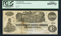 Confederate Notes:1862 Issues, T39 $100 1862 PF-4 Cr. 293 PCGS Gem New 66PPQ.. ...