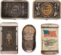 Advertising:Small Novelties, Group of Five Advertising Matchsafes. Including: