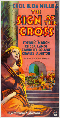 "The Sign of the Cross (Paramount, 1932). Fine- on Linen. Full-Bleed Three Sheet (39.75"" X 79.5"")"
