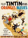 """Movie Posters:Foreign, Tintin and the Blue Oranges (Pathe Consortium Cinema, 1964). Very Fine on Linen. French Moyenne (23"""" X 31.25"""") George """"Hergé..."""