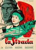 "Movie Posters:Foreign, La Strada (Les Films Marceau, 1955). Fine/Very Fine on Linen. Full-Bleed French Moyenne (21"" X 29.5"") Roger ""Rojac"" Jacquier..."