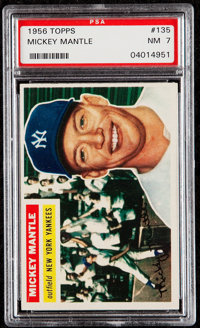 1956 Topps Mickey Mantle (Gray Back) #135 PSA NM 7
