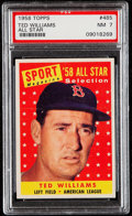 Baseball Cards:Singles (1970-Now), 1958 Topps Ted Williams All-Star #485 PSA NM 7....