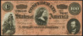 Confederate Notes:1864 Issues, T65 $100 1864 Choice About Uncirculated. . ...