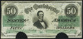 Confederate Notes:1862 Issues, T50 $50 1862 PF-19 Very Fine, COC.. ...