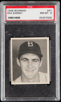 Baseball Cards:Singles (1940-1949), 1948 Bowman Rex Barney #41 PSA NM-MT 8....
