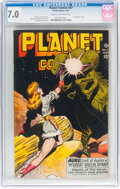 Golden Age (1938-1955):Science Fiction, Planet Comics #47 (Fiction House, 1947) CGC FN/VF 7.0 Cream to off-white pages....