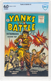 Yanks In Battle #2 (Quality, 1956) CBCS FN 6.0 Off-white pages