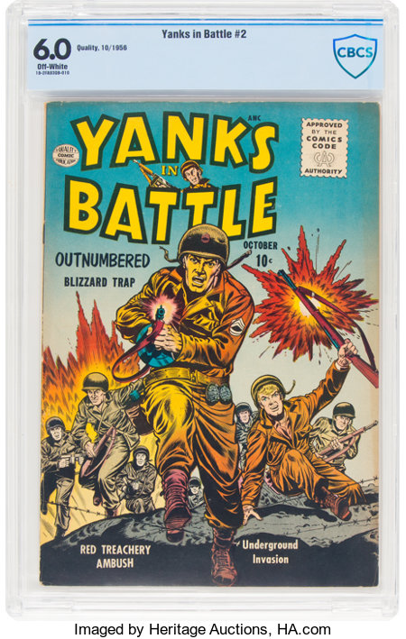 Yanks In Battle #2 (Quality, 1956) CBCS FN 6.0 Off-white pages....