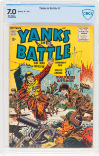 Yanks In Battle #1 (Quality, 1956) CBCS FN/VF 7.0 Off-white pages
