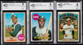 Baseball Cards:Lots, 1968-72 Topps Roberto Clemente Graded Trio (3)....