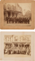 Political:Small Paper (1896-present), William McKinley: Canton, Ohio Front Porch Mounted Photographs.... (Total: 2 Items)