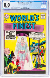 World's Finest Comics #104 (DC, 1959) CGC VF 8.0 Off-white pages