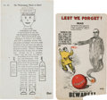 Political:Small Paper (1896-present), William Randolph Hearst: Anti-Hearst Postcard with Bonus....(Total: 2 Items)