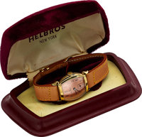 Helbros, New-Old-Stock, 10K Yellow Rolled Gold Plate and Stainless Steel, Manual Wind, Ref. 45350, Circa 1940s