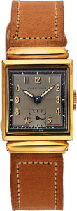 Timepieces:Wristwatch, Yorktown, New-Old-Stock, Yellow Rolled Gold Plate and Stai...