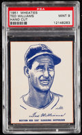 Baseball Cards:Singles (1950-1959), 1951 Wheaties Ted Williams (Hand Cut) PSA Mint 9. ...