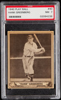 Baseball Cards:Singles (1940-1949), 1940 Play Ball Hank Greenberg #40 PSA NM 7....