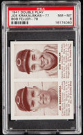 Baseball Cards:Singles (1940-1949), 1941 Double Play Krakauskas/Feller #77/78 PSA NM-MT 8....