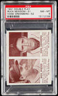 Baseball Cards:Singles (1940-1949), 1941 Double Play Newsom/Greenberg #51/52 PSA NM-MT 8....