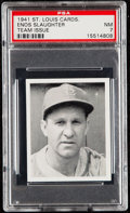 Baseball Cards:Singles (1940-1949), 1941 St. Louis Cardinals Team Issue Enos Slaughter PSA NM 7....