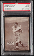 Baseball Cards:Singles (1930-1939), 1934-36 Batter-Up Hack Wilson #73 PSA NM 7....