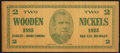 Miscellaneous:Other, Bad Axe, MI - Two Wooden Nickels July 2, 1935.. ...