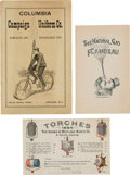 Political:Small Paper (1896-present), James A. Garfield et al: Campaign Equipment Advertisements and Catalogs....