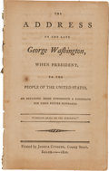 Political:Small Paper (pre-1896), George Washington: 1800 Imprint From Salem, Massachusetts....