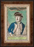 Political:Posters & Broadsides (pre-1896), George Washington: Rare Colonial Colored Engraving....