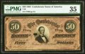 Confederate Notes:1864 Issues, T66 $50 1864 PMG Choice Very Fine 35.. ...