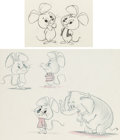 Animation Art:Concept Art, Pixie and Dixie Character Design Drawings Group of 2(Hanna-Barbera, c. 1970s).... (Total: 2 Original Art)