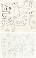 animation art:Model Sheet, Yogi Bear and Boo-Boo Model Sheet Art Group of 2 (Hanna-Barbera, c.1970s).... (Total: 2 Items)