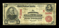 National Bank Notes:West Virginia, Charleston, WV - $5 1902 Red Seal Fr. 587 The Charleston NB Ch. #(S)3236. ...