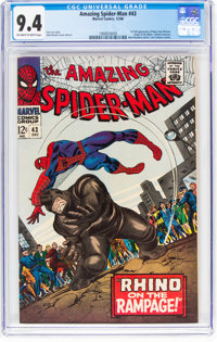 The Amazing Spider-Man #43 (Marvel, 1966) CGC NM 9.4 Off-white to white pages